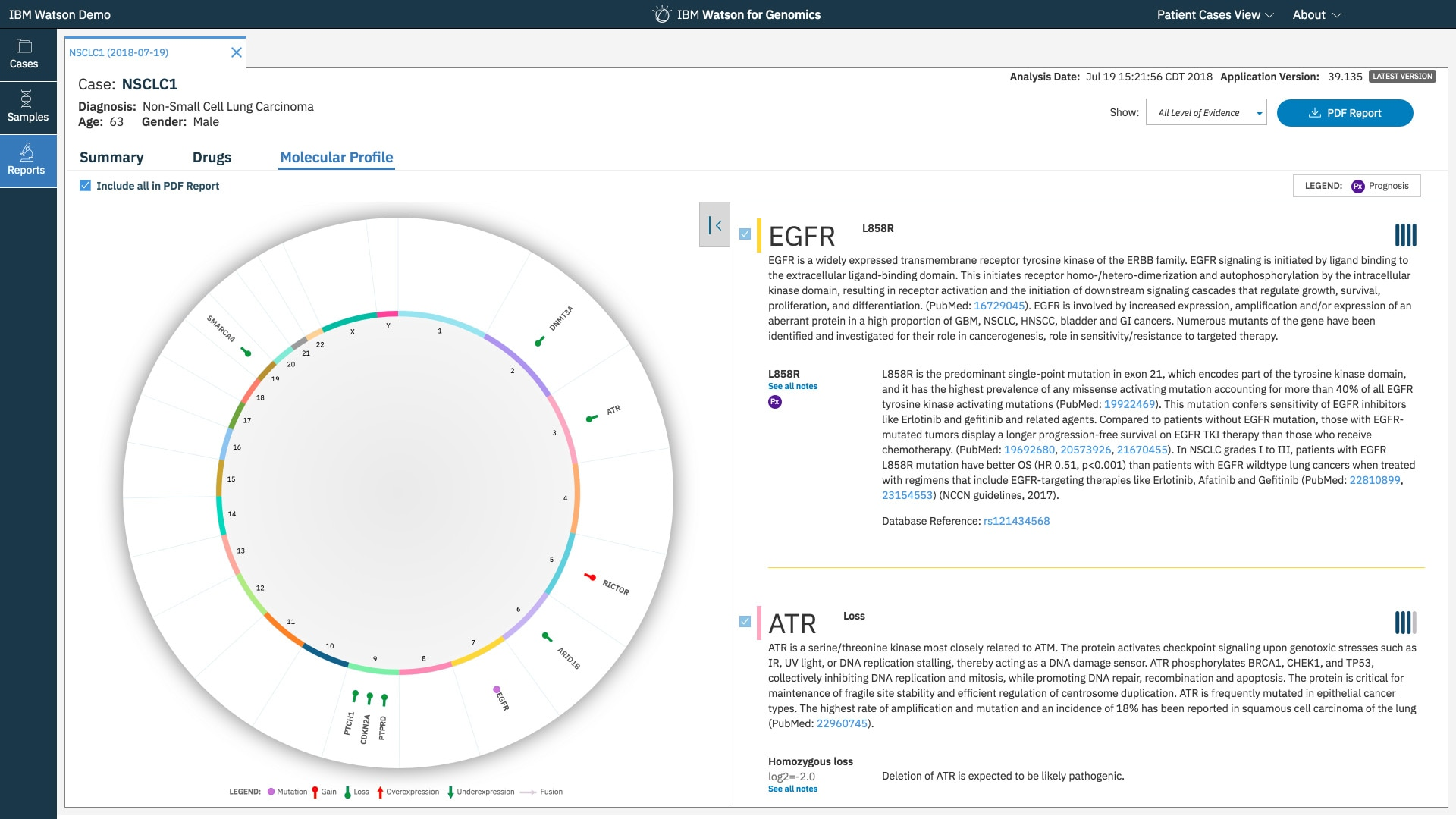 IBM Watson for genomics
